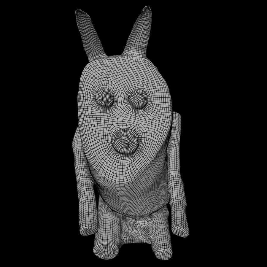 Wooden Rabbit royalty-free 3d model - Preview no. 5