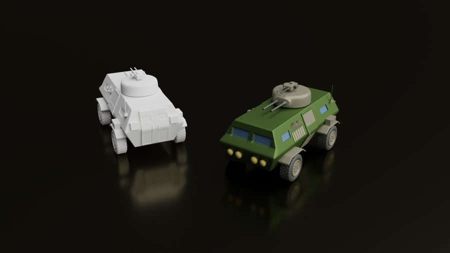 Army vehicles royalty-free 3d model - Preview no. 2