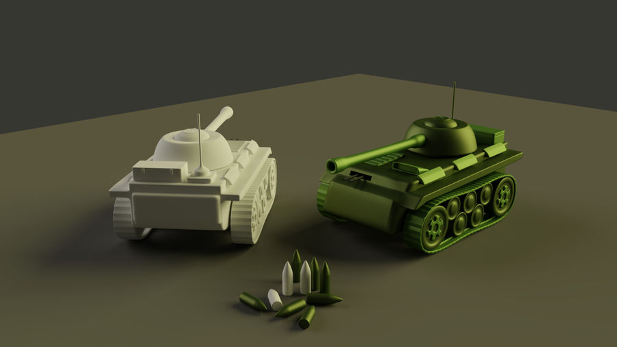 Army vehicles royalty-free 3d model - Preview no. 3