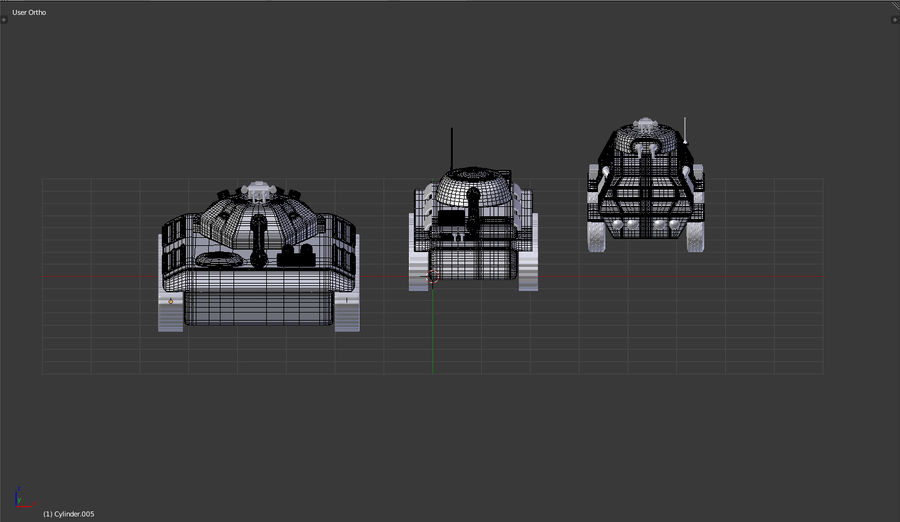 Army vehicles royalty-free 3d model - Preview no. 7