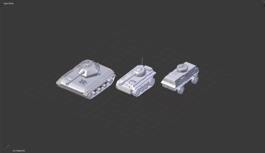 Army vehicles royalty-free 3d model - Preview no. 5