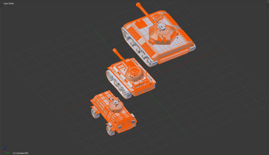 Army vehicles royalty-free 3d model - Preview no. 8