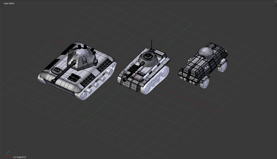 Army vehicles royalty-free 3d model - Preview no. 6