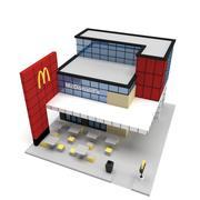 Низкополигональная Макдональдс 3d model