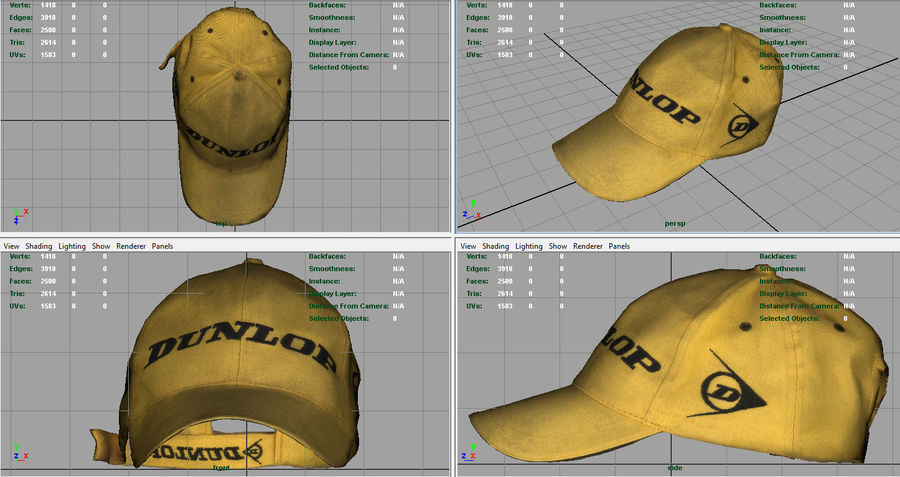 Boné de baseball royalty-free 3d model - Preview no. 7