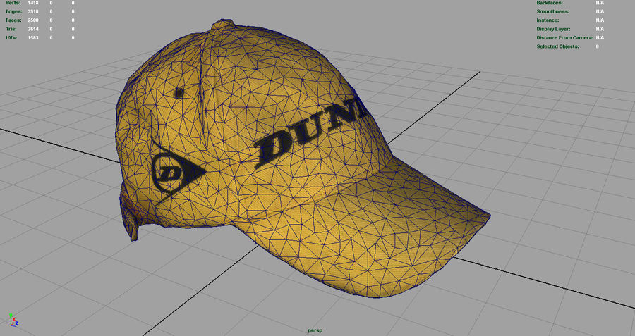 Boné de baseball royalty-free 3d model - Preview no. 10
