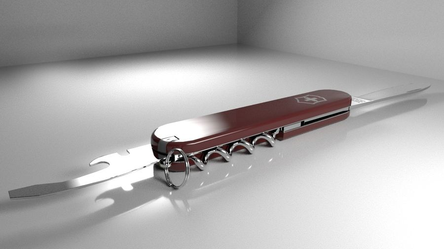 Swiss Army Knife royalty-free 3d model - Preview no. 2