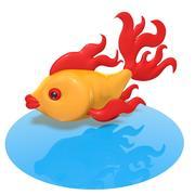 Szklana ryba 3d model