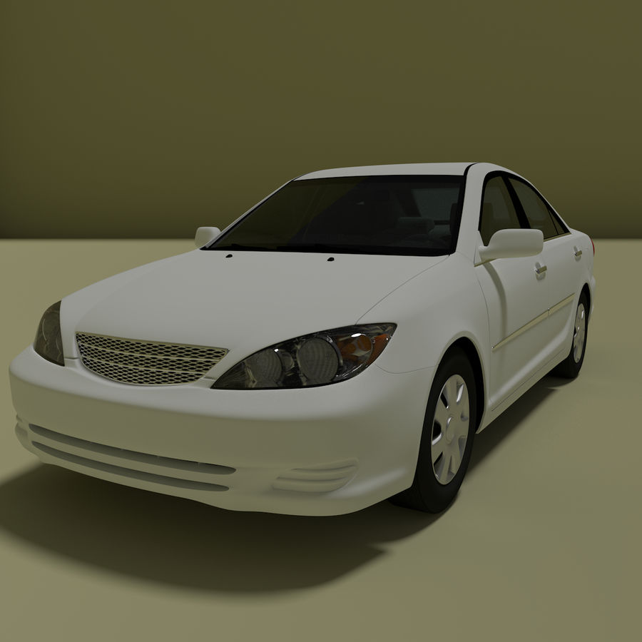 sedan 2004 royalty-free 3d model - Preview no. 2