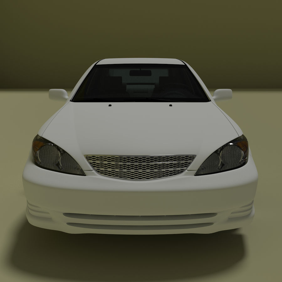 sedan 2004 royalty-free 3d model - Preview no. 1