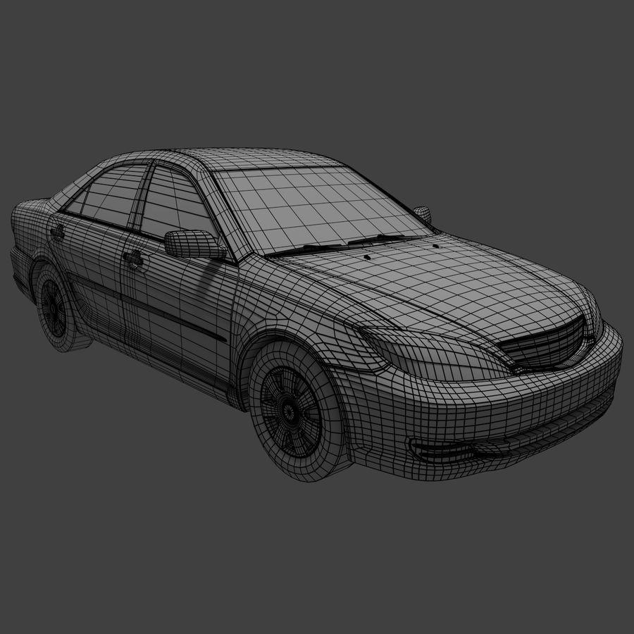sedan 2004 royalty-free 3d model - Preview no. 6