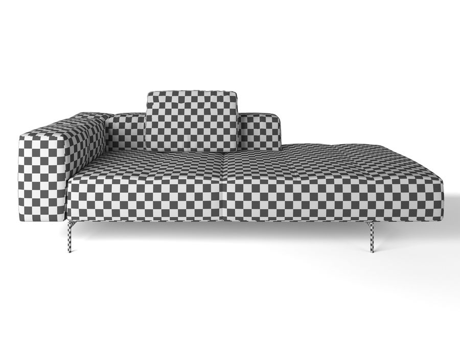 BoConcept Амстердам Диван royalty-free 3d model - Preview no. 10