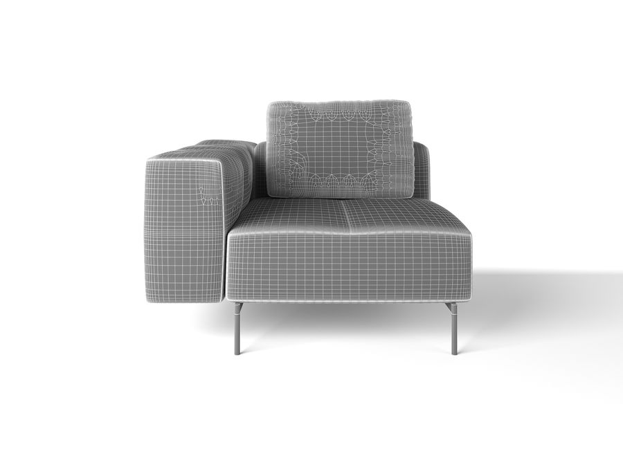 BoConcept Амстердам Диван royalty-free 3d model - Preview no. 20