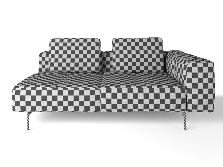 BoConcept Амстердам Диван royalty-free 3d model - Preview no. 4