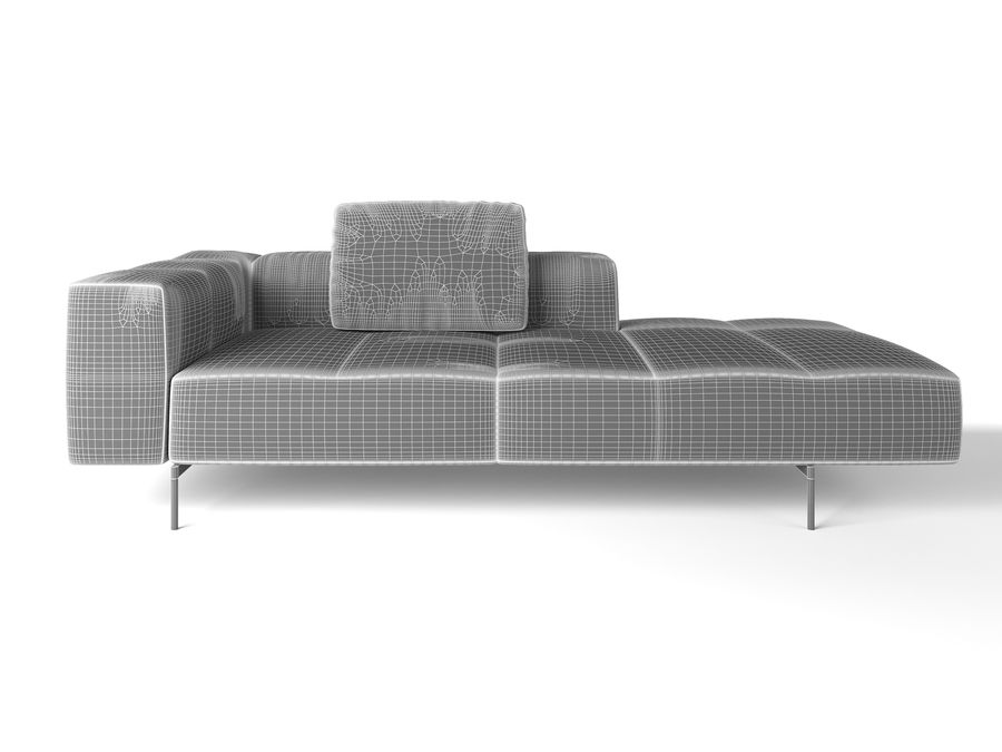 BoConcept Амстердам Диван royalty-free 3d model - Preview no. 11