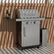 Przenośny grill 3d model