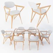 eettafel stoelen set 3d model