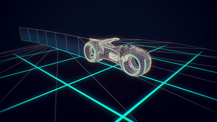 Light Cycle TRON royalty-free 3d model - Preview no. 6