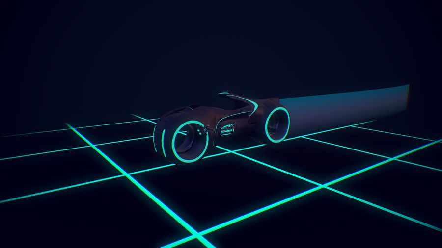 Light Cycle TRON royalty-free 3d model - Preview no. 1
