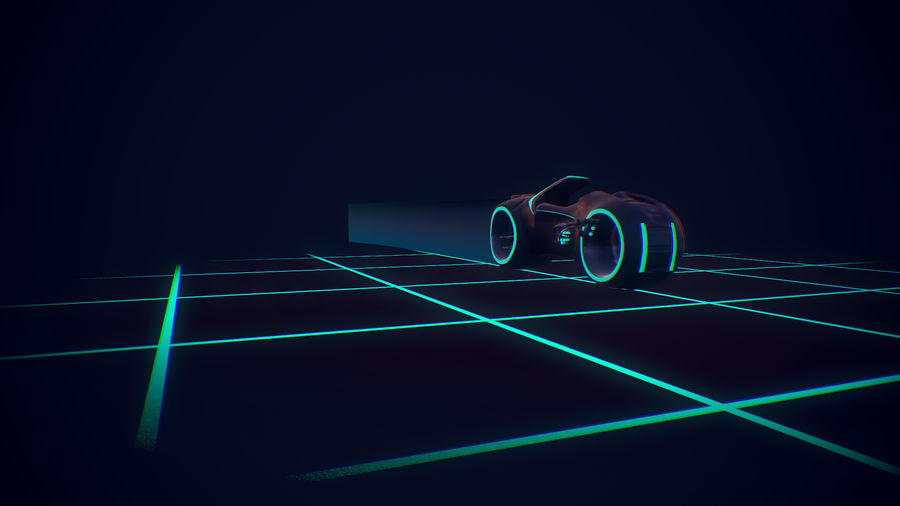 Light Cycle TRON royalty-free 3d model - Preview no. 2