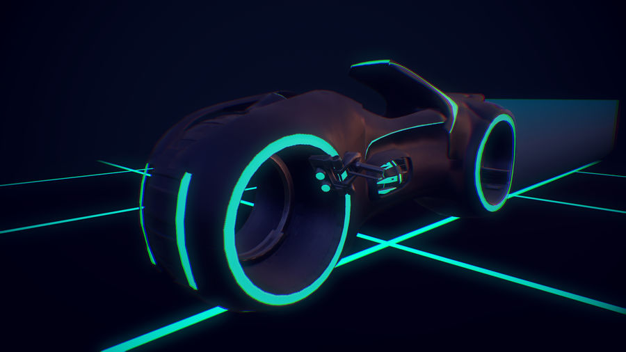 Light Cycle TRON royalty-free 3d model - Preview no. 5