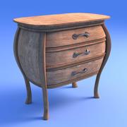 Armário Art Nouveau 3d model