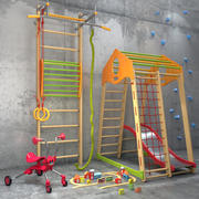 Un ensemble d'équipements sportifs 2 3d model