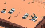 Ambiente desertico basso poli per unità 3d model