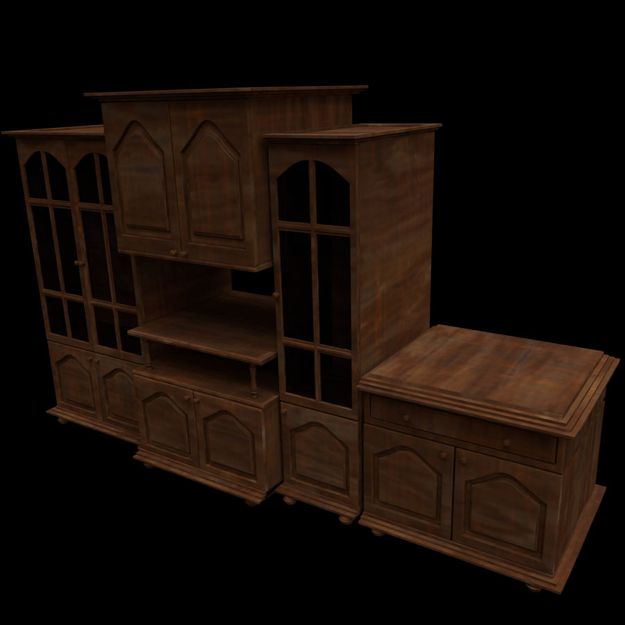Home Cabinet royalty-free 3d model - Preview no. 2