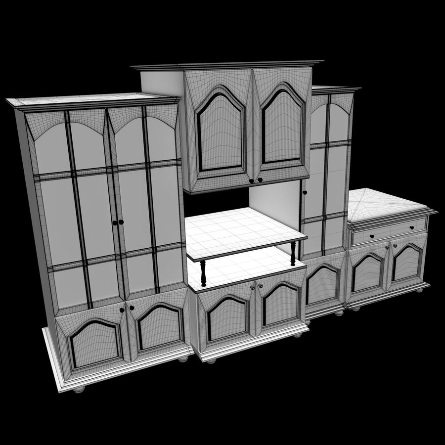 Home Cabinet royalty-free 3d model - Preview no. 4