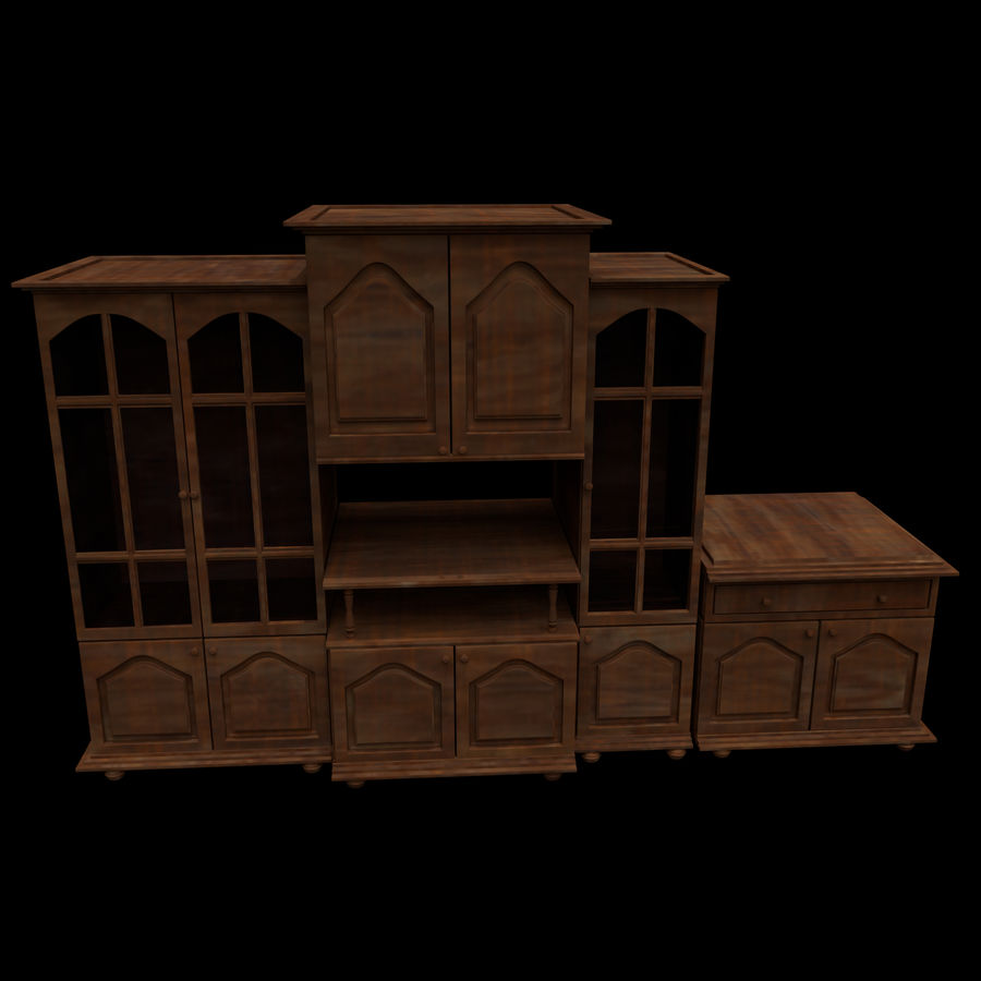 Home Cabinet royalty-free 3d model - Preview no. 3