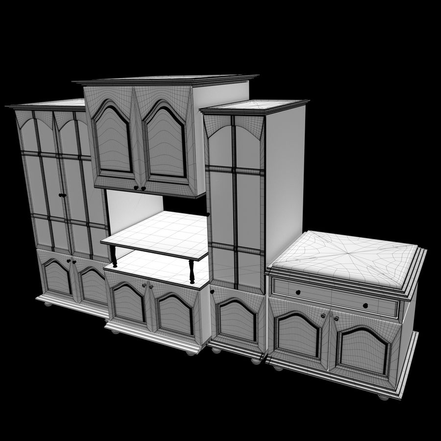 Home Cabinet royalty-free 3d model - Preview no. 5