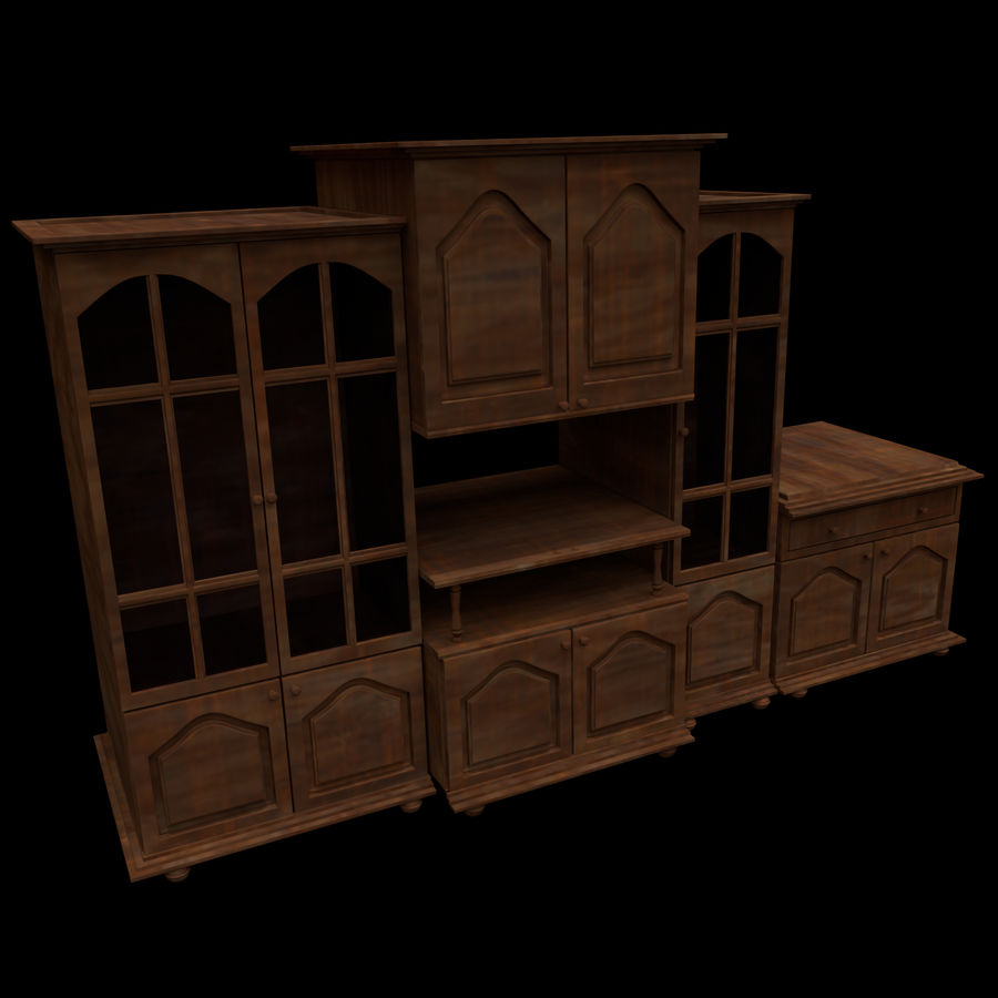 Home Cabinet royalty-free 3d model - Preview no. 1