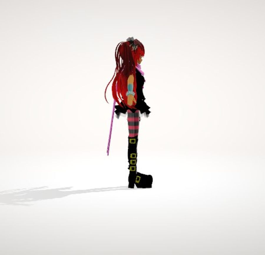 Anime Human Girl royalty-free 3d model - Preview no. 3