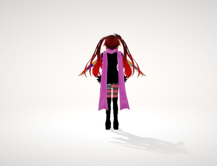 Anime Human Girl royalty-free 3d model - Preview no. 4