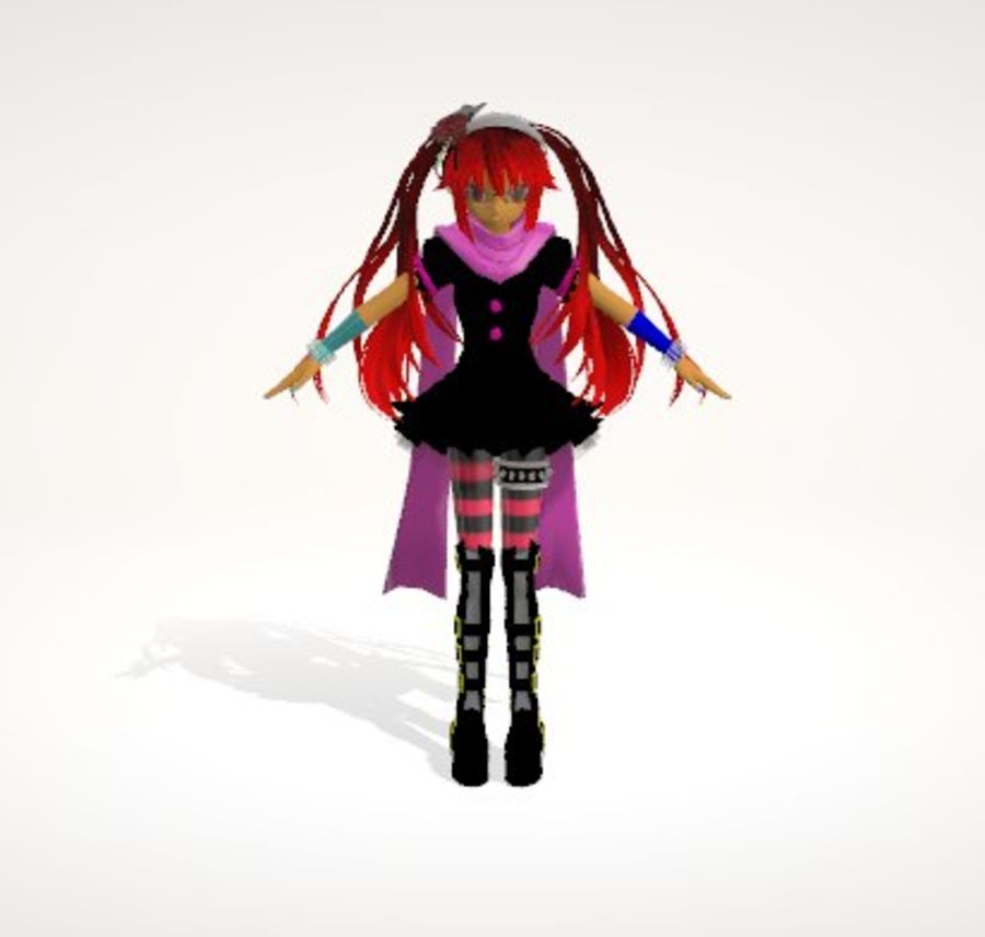 Anime Human Girl royalty-free 3d model - Preview no. 1