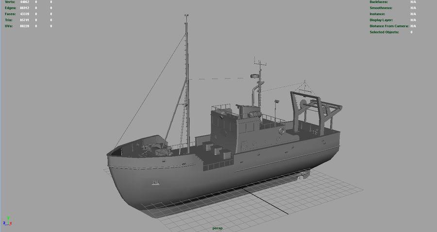 Fish Boat royalty-free 3d model - Preview no. 3