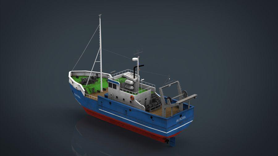Fish Boat royalty-free 3d model - Preview no. 20