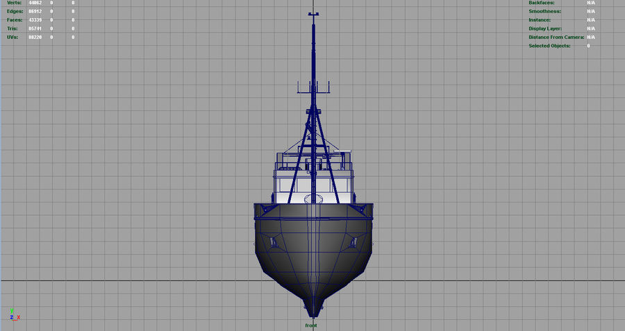 Fish Boat royalty-free 3d model - Preview no. 8