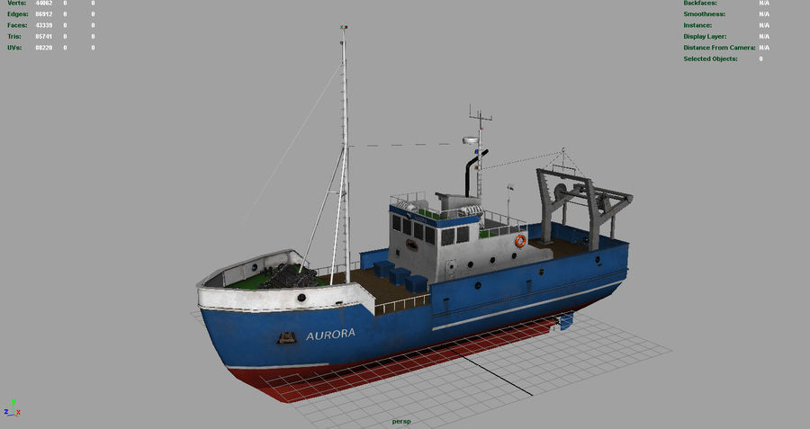 Fish Boat royalty-free 3d model - Preview no. 2