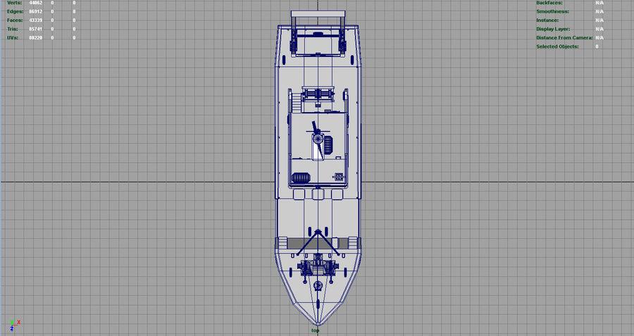 Fish Boat royalty-free 3d model - Preview no. 7