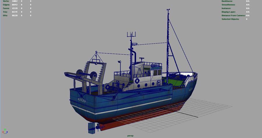Fish Boat royalty-free 3d model - Preview no. 10