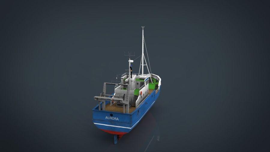 Fish Boat royalty-free 3d model - Preview no. 15