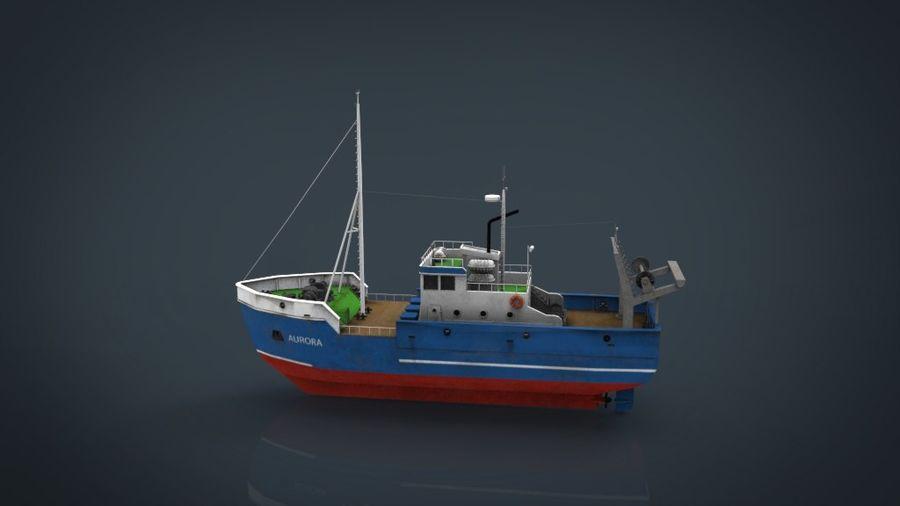 Fish Boat royalty-free 3d model - Preview no. 13