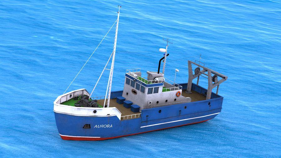 Fish Boat royalty-free 3d model - Preview no. 1