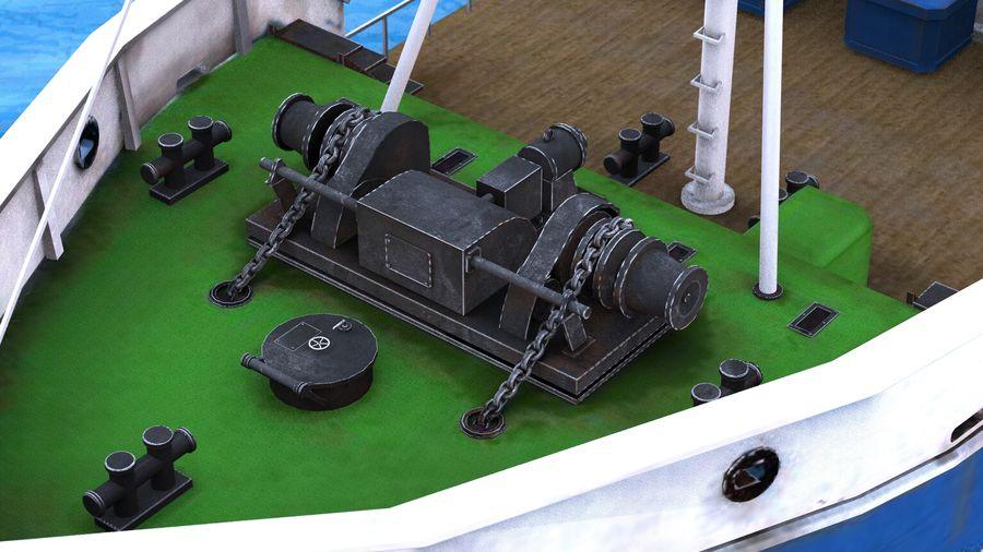 Fish Boat royalty-free 3d model - Preview no. 23