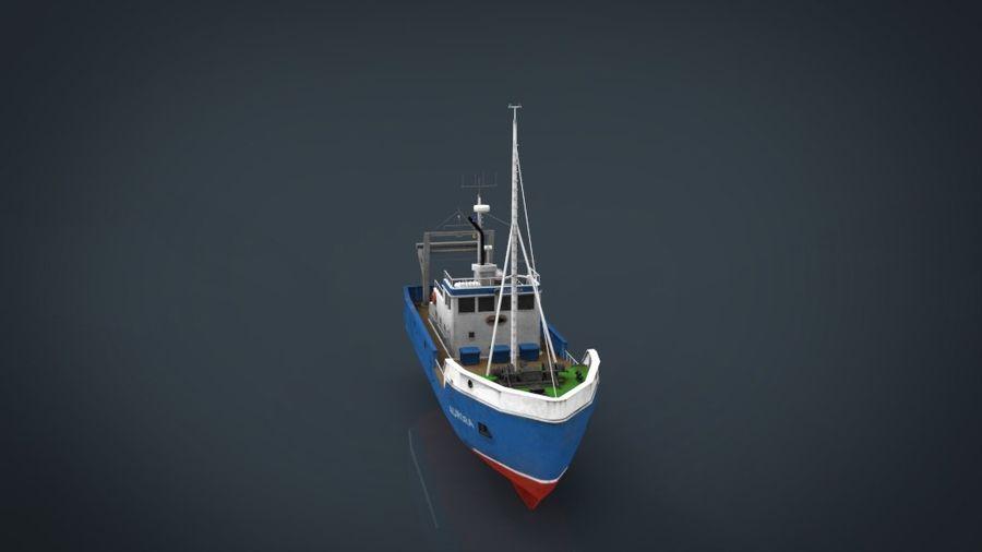 Fish Boat royalty-free 3d model - Preview no. 18