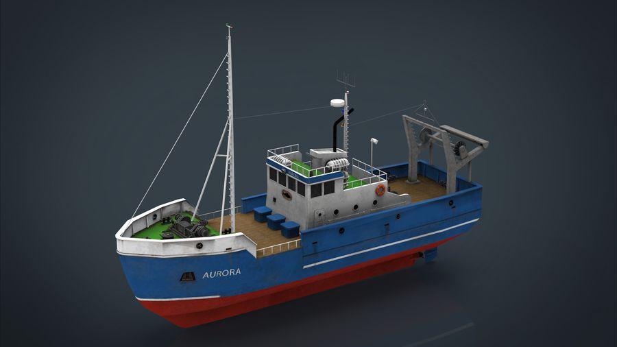 Fish Boat royalty-free 3d model - Preview no. 25