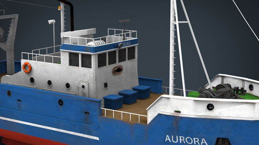 Fish Boat royalty-free 3d model - Preview no. 19