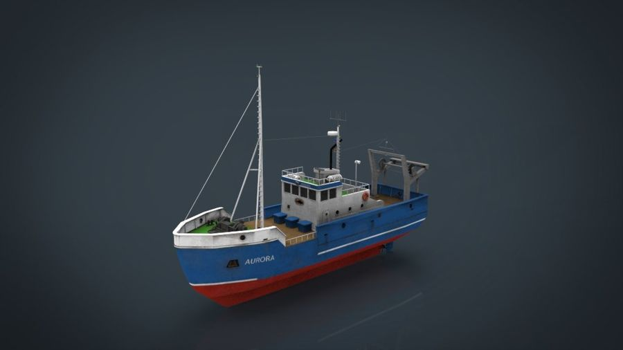 Fish Boat royalty-free 3d model - Preview no. 12